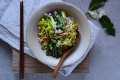 Modern Day Fried Rice with four Greens