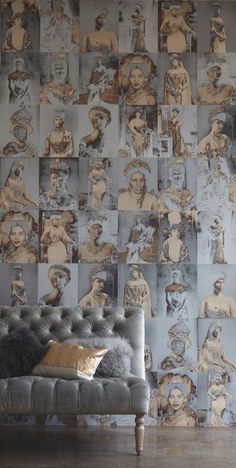Great wallpaper for a bath or master closet~~~~~50 Shades of Grey Home Decor - The Cottage Market