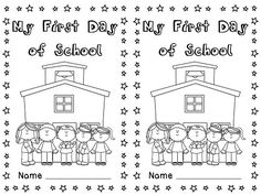 My First Day of School book! Cute little book to do on the first day of school
