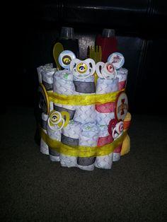 The Iowa/Iowa State Diaper Cake!