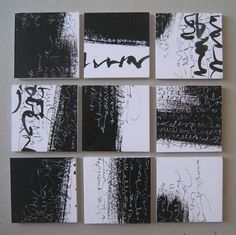 Francesca Biasetton , asemic writing 3x3 project