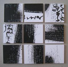 Francesca Biasetton , asemic writing 3x3 project