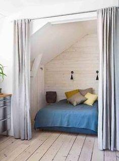 Blue bed enclosure.