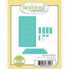 Ellen Hutson LLC - Taylored Expressions Dies, Door to Door, $22.00 (https://www.ellenhutson.com/taylored-expressions-dies-door-to-door/)