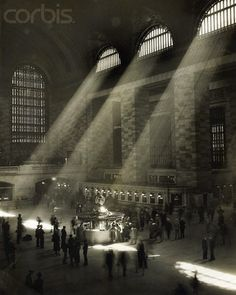 Sunlight entering Grand Central Station