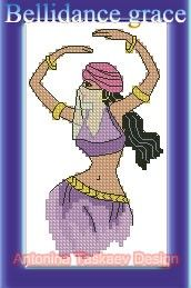 Bellidance grace - Cross stitch pattern. $2.99, via Etsy.