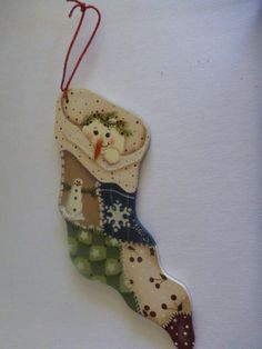 Christmas Ornament - Tole Painting, hand painted: T9 by CarolsCreations77 on Etsy