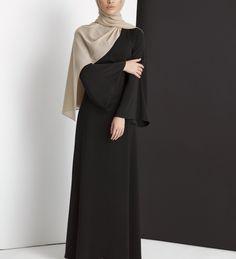 Sakiya Abaya In Black Sakiya Abaya In Black [] - £54.90 : Inayah, Islamic Clothing & Fashion, Abayas, Jilbabs, Hijabs, Jalabiyas & Hijab Pins