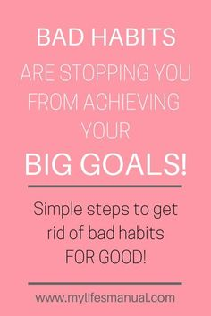 Are you looking for simple ways to setting goals and crushing them? The truth is, your bad habits are stopping you from achieving your goals. Learn how to break bad habits and set actionable goals. You'll find the perfect setting goal planner and workshee Set Your Goals, Achieve Your Goals, Self Development, Personal Development, Wicca, Habits Of Successful People, Goal Planning, Business Planning, Goals Planner