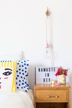 Colorful Master Bedroom with @Leesa   studiodiy.com