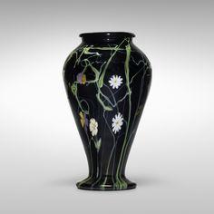 Important Italian Glass, 13 June 2015 < Auctions Tall Glass Vases, Murano Glass Vase, Mosaic Glass, Glass Art, Venetian Glass, Italian Art, Black Glass, Flower Arrangements, Art Decor