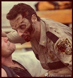 """Así se verían algunos personajes de """"The Walking Dead"""" si fuesen zombies - http://www.leanoticias.com/2011/11/22/as-luciran-los-protagonistas-de-the-walking-dead-si-fueran-zombies/"""
