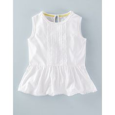 Broderie Jersey Top 31996 Tops at Boden Frocks For Girls, Little Girl Dresses, Girls Dresses, Baby Frocks Designs, Kids Frocks Design, Frock Design, Frock Fashion, Fashion Outfits, Fall Outfits