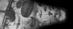30 Parachute Tattoo Designs For Men - Sky Diving Ink Ideas Army Tattoos, Military Tattoos, Old Tattoos, Tattoos For Guys, Pistol Tattoos, Simple Anchor Tattoo, Anchor Tattoo Men, Calf Tattoo, S Tattoo