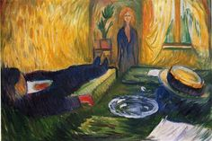 The Murderess - Edvard Munch ||| This is a testament to how much murder I've seen on TV that I didn't notice the dead body until after I looked at this painting three times.