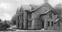 Old photograph of St Margaret's School, Polmont located near Falkirk , Scotland . Polmont is located North of the Union Canal, which runs ad...