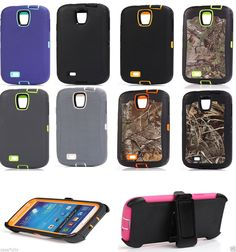 Material: The case was combined with four parts, the inner a Soft Rubber cover and hard plastic outside cover. 1 piece hard back case. PC material to protect your phone hurt from scratches. Easy, snap on/off installation Precisely cut openings to allow full access to all the functions of your phone Hard Case Cover gives you mobile phone a safe protection Inner protect your phone from scratch Generic replacement for otterbox defender