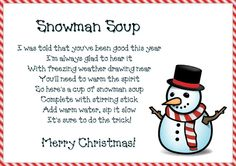 Snowman Soup Printable | The Purple Pumpkin Blog