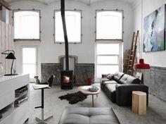 Rough design industrial living room interior  BOCONCEPT   DECOLAND