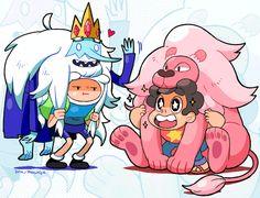 Adventure time. Steven universe.