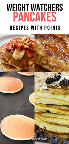 Best Weight Watchers Pancakes Recipes - Freestyle WW Pancakes with Smartpoints. Looking for best Weight Watchers Pancakes Recipes? I have a great collection of easy Freestyle WW Pancakes with Smartpoints. Weight Watchers Pancakes, Weight Watchers Breakfast, Weight Watchers Diet, Healthy Recipes For Weight Loss, Healthy Eating Recipes, Clean Eating Snacks, Healthy Desserts, 100 Calories, Ww Recipes