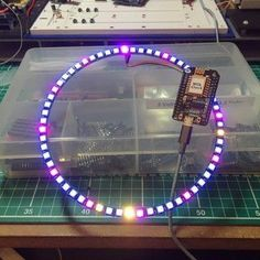Wol Clock + 60 LED Analogue Digital Clock : 5 Steps (with Pictures) - Instructables Electrical Projects, Electronics Projects, Digital Clocks, Led, Raspberry, Pictures, Design, Photos