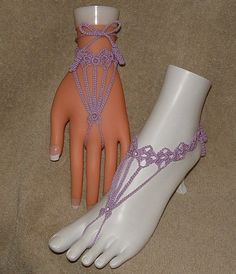 Barefoot Sandals Foot Jewelry Hand Jewelry Anklet Slave Bracelet $14.00 want