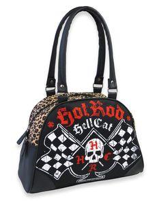 Hotrod Hellcat Damen SPADE FLAGS Handtasche/Bowling Bags.Tattoo,Biker,Pin up