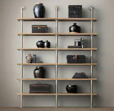 Custom Scaffold Industrial Style Shelving by IndustrialFurniCo