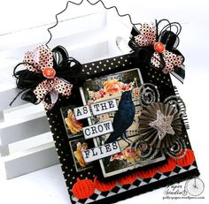 As the Crow Flies Halloween Wall Hanging Holiday by PollysPaper