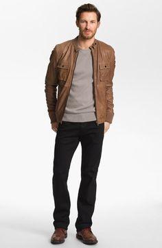 La Marque Jacket, Façonnable Weater & AG Jeans Straight Leg Jeans