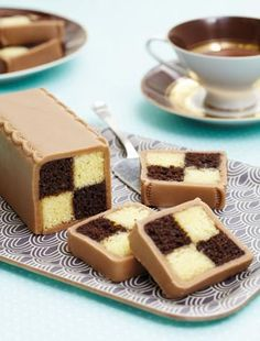 Chocolate battenberg cake