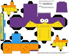 PaperToy_The Simpsons - Bart Man