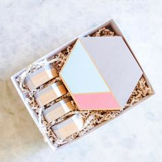 NEW IN SHOP! Hexagon Coaster/Trivet  Place Card Holders makes the perfect hostess gift!! We are freakin excited to release this set. We've got another color option available online!!! Check out www.esselleSF.com  #esselle #tabletopcollective #hostessgift