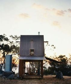 Mudgee is one man's retreat, a permanent campsite, in western New South Wales, Australia. From Vogue Living May/June 2009. Casey Brown Architecture, photos by Mikkel Vang