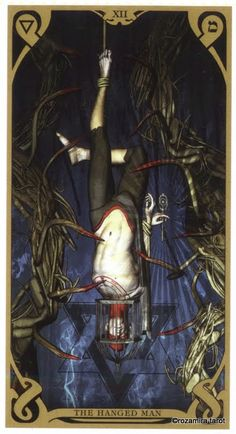 XII. The Hanged Man - Night Sun Tarot by Fabio Listrani