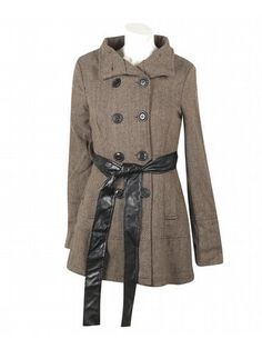 Khaki Hello Herringbone Coat $79  http://www.alight.com/last-kiss-khaki-hello-herringbone-coat.html  Plus-size richly patterned herringbone coat has a double row of buttons at the front, a removable faux leather sash belt, and 2 open hip pockets.