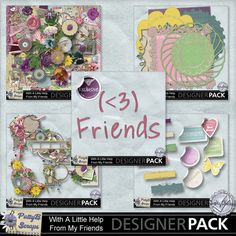 With a Little Help From Friends Collection #pattybscraps #mymemories #digitalscrapbooking