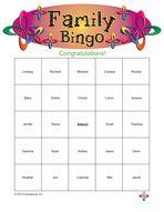 Family Reunion Games: Family Bingo!