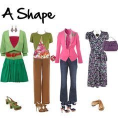 "Are you an 8, A, O, V, I, or X body shape? Inside Out Style is a great blog with advice for dressing for your body type. Lots of cute ""clothing capsule"" ideas too."