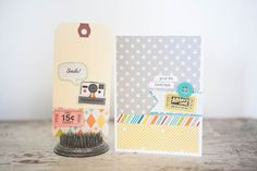 Marcy Penner created this card and tag for Summer CHA 2012
