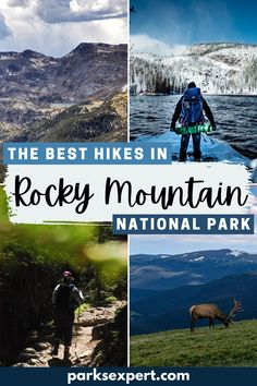 Download a free checklist of the best hikes in Rocky Mountain National Park for every type of hiker, organized by difficulty (easy to strenuous).   Best Hikes in Rocky Mountain National Park   #colorado #rockymountainnationalpark #nationalparks #rockymountains #rockies #hiking