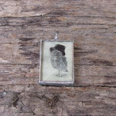 Vintage Black and White Photo of Owl with by MablesGranddaughter, $15.00
