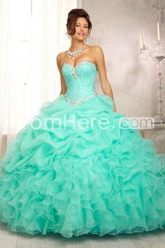 2014 Ball Gown Sweetheart Jewel Beaded Bodice Bubble And Ruffled Skirt St006