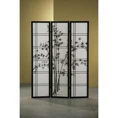 Foliage on your #VideoConference Backdrop? Shoji 3 Panel Wooden Screen and Room Divider