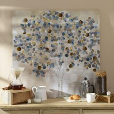 Add a unique feel to your home with Kirkland's Mysterious Tree Canvas Art Print.