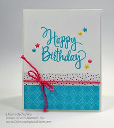 Stylized Birthday with Enamel Shapes card created by Dawn Olchefske for…