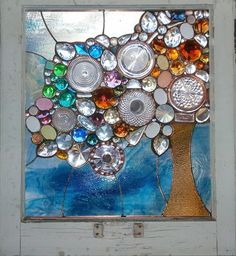 Alison does AMAZING work with stained glass/recycled/glass finds. I LOVE IT! alisonsstainedglass.com