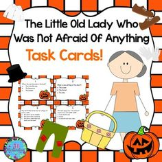 FREEBIE:  This task card resource is a fun activity to use with The Little Old Lady Who Was Not Afraid of Anything by Linda D Williams. It will help your students with reading comprehension skills in a fun engaging way! The children can record their responses on the printable or in a reading response notebook.