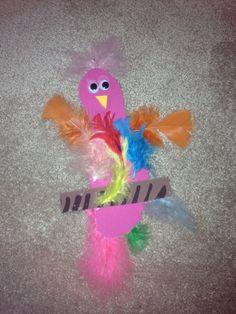 Footprint bird craft